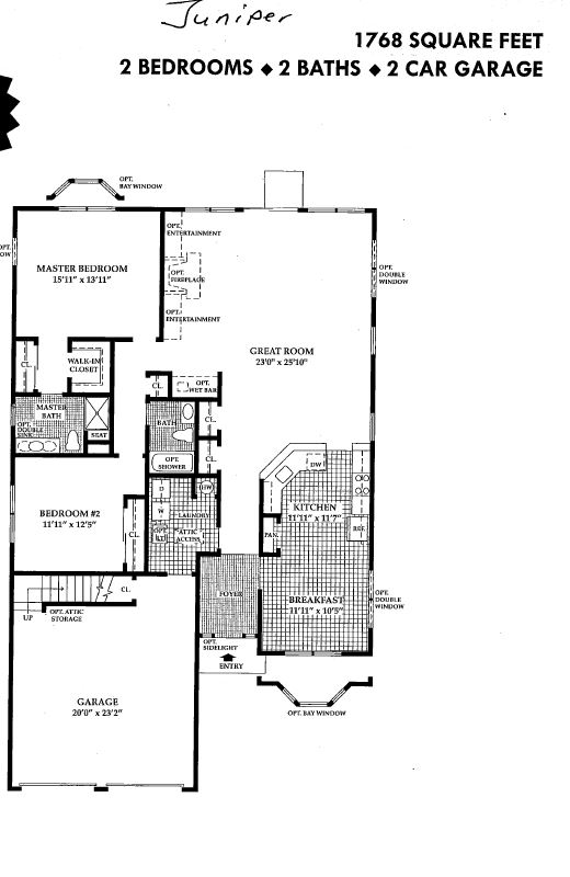 Four seasons floor plans four seasons community website for Juniper floor plan